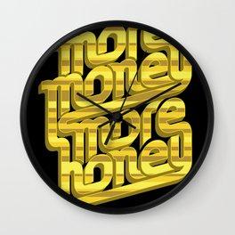 More Money, More Honey Wall Clock