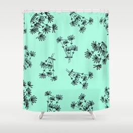 mint flower eaters Shower Curtain