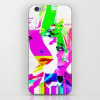 holographic iPhone & iPod Skins featuring future holographic lover by Robert Alan