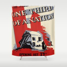 Vintage poster - One Third of a Nation Shower Curtain