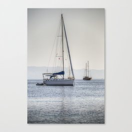The Relaxation Yacht Canvas Print