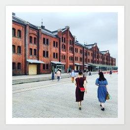 Yohohama: Red Brick Warehouse Art Print