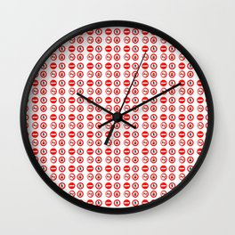 Traffic sign - road sign,road,fingerpost,sign,Car Wall Clock