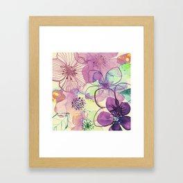 FLORAL PATTERN30 Framed Art Print