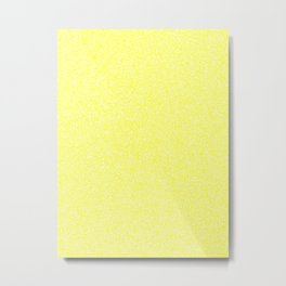 Melange - White and Yellow Metal Print
