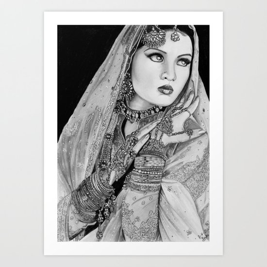 Celena jaitley Art Print
