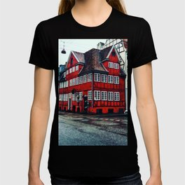 Painting of Traditional Red Restaurant in a House in Copenhagen, Denmark T-shirt