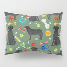 Black Lab dog toys cute dog breeds black labrador retriever gifts pet friendly Pillow Sham