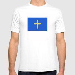 Asturias flag spain country region T-shirt