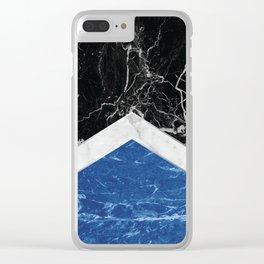 Arrows - Black Granite, White Marble & Blue Granite #227 Clear iPhone Case