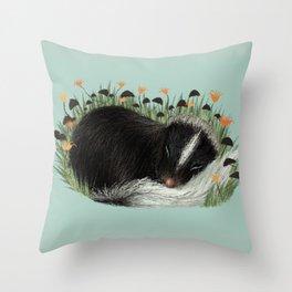 Sleeping Baby Skunk Throw Pillow