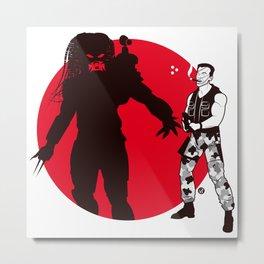 Predator Cartoon Style Metal Print