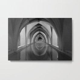 Black and white light and shadow VI Metal Print