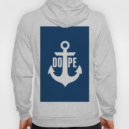 Nautical Anchor Cool Dope Navy Blue White Hoody