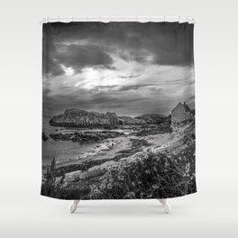 Balintoy Harbour, Ireland Shower Curtain