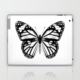 Monarch Butterfly | Vintage Butterfly | Black and White | Laptop & iPad Skin
