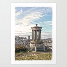 Edinburgh Colour Portrait Art Print