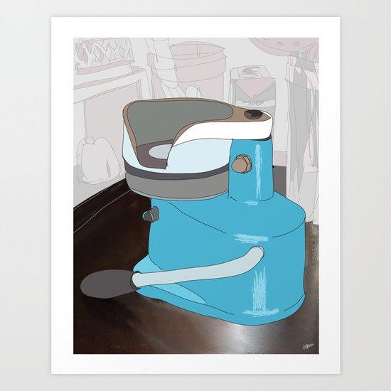 Diner Series: #4 Meat Press Art Print