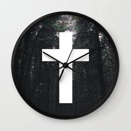 Cross Circle Wall Clock