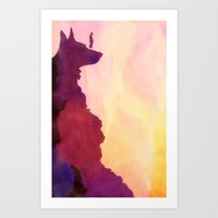 Peering Off From Dog Mountain Art Print