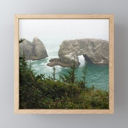 Ocean Cave Framed Mini Art Print