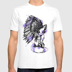 fox spirt  White MEDIUM Mens Fitted Tee