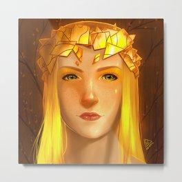 Golden Shards Metal Print