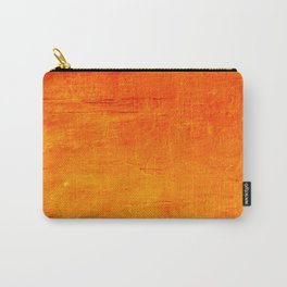 Orange Sunset Textured Acrylic Painting Carry-All Pouch