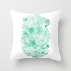 Green Fields Throw Pillow