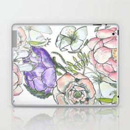 cottage flowers in bloom Laptop & iPad Skin