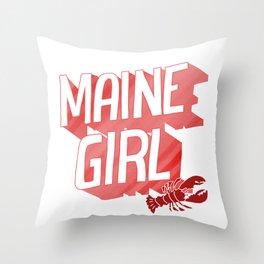 Maine Girl Throw Pillow
