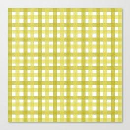 Yellow Picnic Cloth Pattern Canvas Print