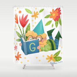 Book Gnome Shower Curtain