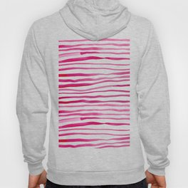 Irregular watercolor lines - pink Hoody