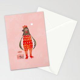 Christmas Chicken - illustration Stationery Cards