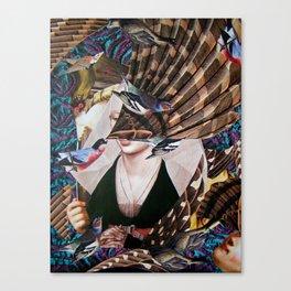Madchen_Portrait with (Dark Jungle) Canvas Print