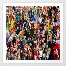 all anime cool Art Print