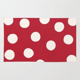 Red Random Polka Dots Rug