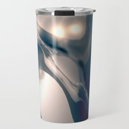 Metal Silverleaf Travel Mug