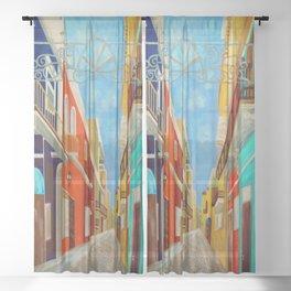 Old San Juan Sheer Curtain