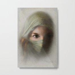 Lady in Shroud Metal Print