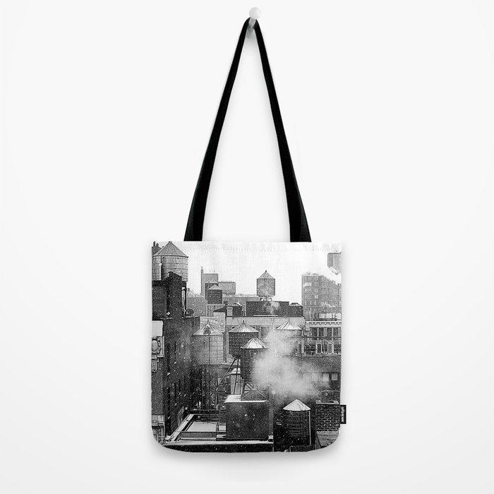 Water towers of the New York City. Tote Bag