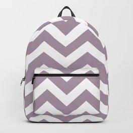 Lilac Luster - violet color - Zigzag Chevron Pattern Backpack