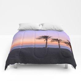 Serenity beach. Palms at the beach. Comforters