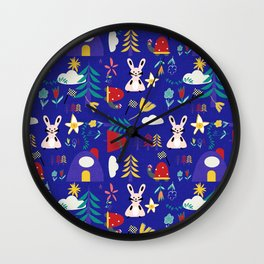 Tortoise and the Hare is one of Aesop Fables blue Wall Clock