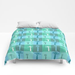 Baobab Azure Comforters