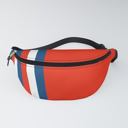 Retro Stripes Pop Art - Red White Blue Fanny Pack