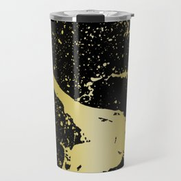 GRUNGE SPLASH | black gold Travel Mug