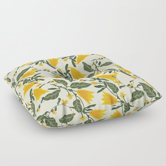 Yellow Bright Flower Pattern by aljahorvat