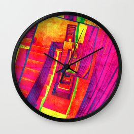 Pop Art Stairwell Abstract Wall Clock